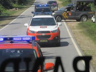 Police escorts around Pontianak