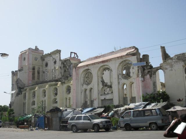 the Ruined church of haiti