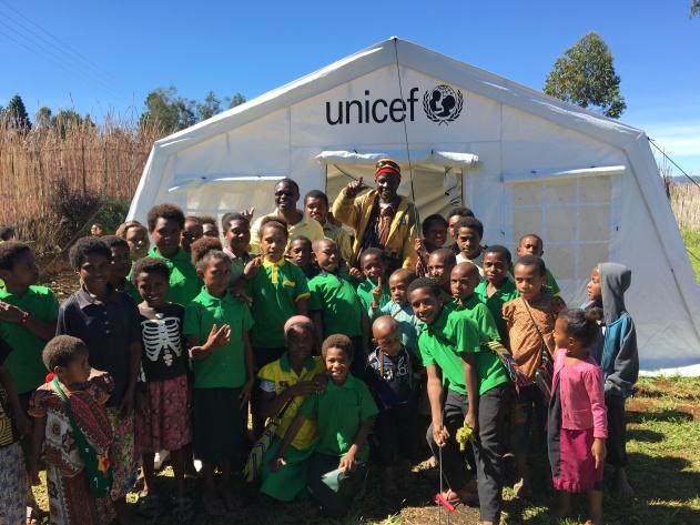 UNICEF tent